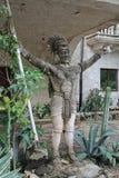 Estatua maya del guerrero Imágenes de archivo libres de regalías