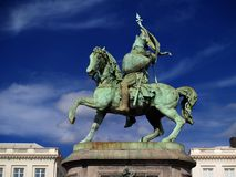 Estatua medieval del cruzado de Bruselas. Fotografía de archivo libre de regalías