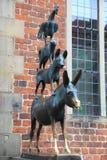 Estatua medieval del cuento de hadas en Bremen, Alemania fotografía de archivo
