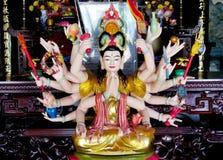 Estatua mitológica asiática del multiarm Imagen de archivo