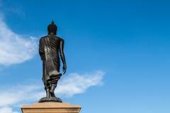 Estatua negra de buddha Fotos de archivo libres de regalías