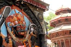 Estatua Nepali de dios fotos de archivo