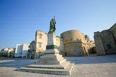 Estatua para los héroes y los mártires de Otranto Foto de archivo