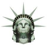 Estatua poligonal de Liberty Head ilustración del vector
