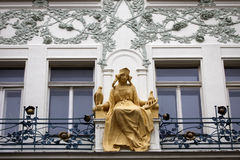 Estatua Praga de princesa Libuse Fotografía de archivo