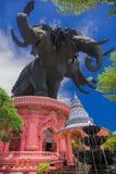 Estatua principal del elefante tres Imagenes de archivo