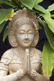Estatua que acoge con satisfacción a visitantes Imagenes de archivo