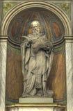 Estatua religiosa medieval Foto de archivo libre de regalías