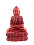 Estatua roja del frente del budha Fotografía de archivo