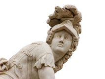 Estatua romana aislada Fotos de archivo