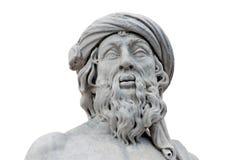 Estatua romana aislada fotos de archivo libres de regalías