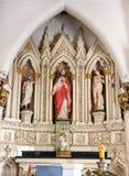 Estatua sagrada del corazón en la basílica de St Mary en Bangalore. fotografía de archivo