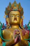 Estatua santa de Maitreya Buda en el valle de Nubra, ladakh, la India Imagen de archivo