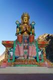 Estatua santa de Maitreya Buda en el valle de Nubra, ladakh, la India Fotografía de archivo libre de regalías