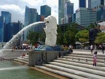 Estatua Singapur de Merlion foto de archivo