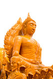 Estatua tailandesa de buddha de la cera en festival de la vela Imagen de archivo