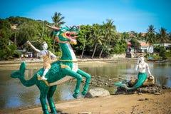 Estatua tailandesa de las criaturas de la leyenda de misterioso Imágenes de archivo libres de regalías