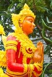 Estatua tailandesa del ángel de la cera del estilo Foto de archivo