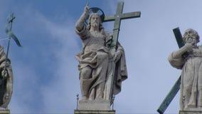 Estatua Timelapse de CRISTO almacen de metraje de vídeo