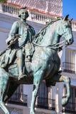 Estatua Tio famoso Pepe Sign Puerta del Equestrian de rey Carlos III Fotografía de archivo
