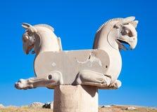 Estatua Two-headed del grifo en Persepolis Imagen de archivo libre de regalías