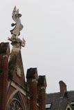 Estatua - universidad católica - Lille - Francia Foto de archivo libre de regalías