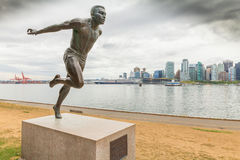 Estatua Vancouver Canadá del oeste de jerome del wiston de Herry fotografía de archivo