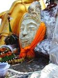 Estatua vieja de Buda de la cabeza en Wat Sao Thong Thong Fotos de archivo libres de regalías