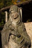 Estatua vieja de Maria Imagen de archivo libre de regalías