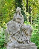 Estatua vieja en el cementerio de Lychakiv en Lviv Fotografía de archivo libre de regalías