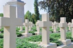 Estatua vieja en el cementerio de Lychakiv en Lviv Foto de archivo libre de regalías