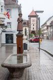 Estatua Villingen-Schwenningen Alemania fotos de archivo