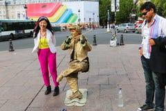 Estatua viva - París Fotos de archivo