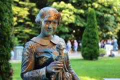 Estatua viva - Ruth Handler Foto de archivo libre de regalías