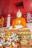 Estatua Wat Phra That Khao Noi, provincia de Buda de NaN, al norte de Tha Imagen de archivo libre de regalías