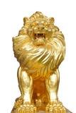Estatuas aisladas del león Fotos de archivo libres de regalías