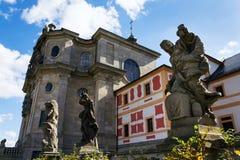 Estatuas alegóricas de las virtudes y de los vicios de Matyas Braun en Kuks, región de Hradec Kralove, distrito de Trutnov, Repúb imágenes de archivo libres de regalías