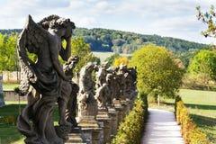 Estatuas alegóricas de los vicios de Matyas Braun en Kuks, región de Hradec Kralove, distrito de Trutnov, República Checa imagenes de archivo