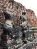 Estatuas arruinadas de Buda Imagen de archivo libre de regalías