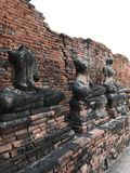 Estatuas arruinadas de Buda Foto de archivo