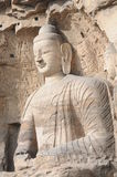 Estatuas budistas en la cueva 20 de las grutas de Yungang Imágenes de archivo libres de regalías
