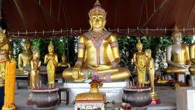 Estatuas budistas en Tailandia almacen de video