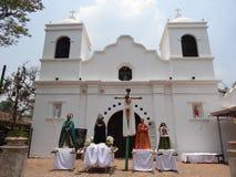 Estatuas ceremoniales de los santos para el desfile religioso Valle de Ángeles 2 de la celebración del verano imágenes de archivo libres de regalías