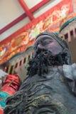 Estatuas chinas de dios en Pud Jor Shrine en festival vegetariano en Fotos de archivo libres de regalías