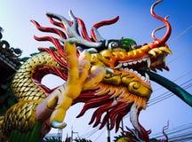 Estatuas chinas del dragón Fotografía de archivo