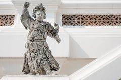 Estatuas chinas del guerrero en Tailandia. Fotografía de archivo