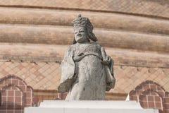 Estatuas chinas del guerrero en Tailandia. Foto de archivo
