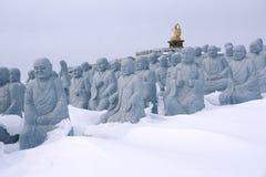 Estatuas de Arhat imagenes de archivo