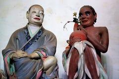 Estatuas de Arhats budista de Li Guangxiu, China Fotos de archivo
