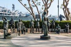 Estatuas de Bob Hope y del personal militar en San Diego Fotos de archivo libres de regalías